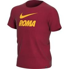 AS Roma T-Shirt Training Ground - Röd/Gul Barn