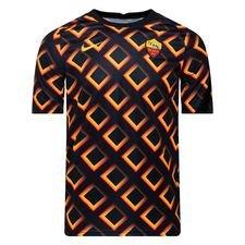 Roma Tränings T-Shirt Breathe Pre Match - Svart/Guld