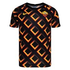 Roma Tränings T-Shirt Breathe Pre Match - Svart/Guld Barn