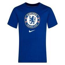 Chelsea T-Shirt Crest - Blå/Vit Barn