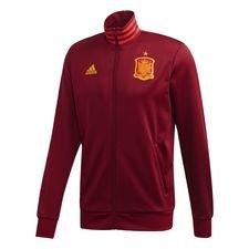 Spanien 3-Streifen Trainingsjacke Weinrot