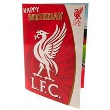 Liverpool Geburtstagskarte Musical - Röd/Vit