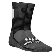 Unisport Grip Sock Low Knitted Logo - Schwarz/Weiß