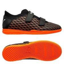 PUMA Future 6.4 Velcro IT Chasing Adrenaline - Sort/Hvid/Orange Børn thumbnail