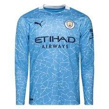 Manchester City Hemmatröja 2020/21 Långärmad Barn