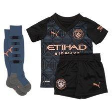 Manchester City Bortatröja 2020/21 Mini-Kit Barn