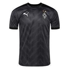 Borussia Mönchengladbach Tränings T-Shirt Stadium - Svart/Grå/Vit