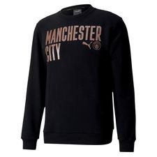 Manchester City Sweatshirt FtblCore Wording - Schwarz/Copper