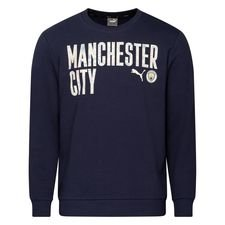 Manchester City Sweatshirt FtblCore Wording - Navy/Whisper White