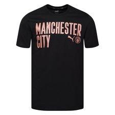 Manchester City T-Shirt FtblCore Wording - Svart/Brun