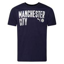 Manchester City T-Shirt FtblCore Wording - Navy/Vit