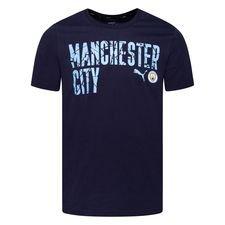 Manchester City T-Shirt FtblCore Wording - Navy/Blå