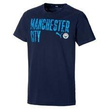 Manchester City T-Shirt FtblCore Wording - Navy/Blå Barn