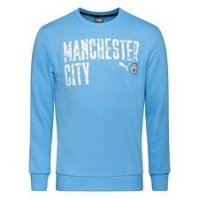 Manchester City Sweatshirt FtblCore Wording - Team Light Blue/Navy Kinder