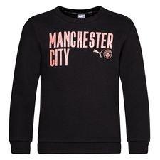 Manchester City Sweatshirt FtblCore Wording - Svart/Brun Barn