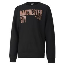 Manchester City Sweatshirt FtblCore Wording - Schwarz/Copper Kinder