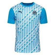 Marseille Tränings T-Shirt Stadium - Blå/Vit