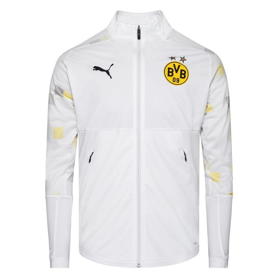 Dortmund Jakke Stadium - Hvid/Gul thumbnail
