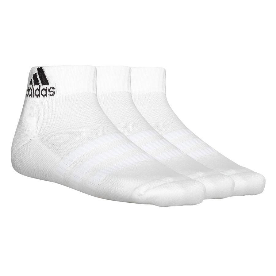 adidas Ankelsokker Cushioned 3-Pak - Hvid/Sort thumbnail