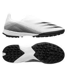 adidas X Ghosted .3 Laceless TF Inflight - Hvid/Sort/Sølv Børn