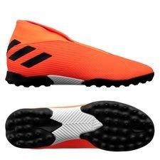 adidas Nemeziz 19.3 TF Laceless Inflight - Orange/Sort/Rød Børn