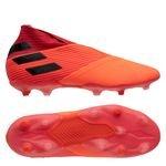 adidas Nemeziz 19+ FG/AG Inflight - Coral/Noir/Rouge Enfant