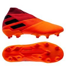 adidas Nemeziz 19+ FG/AG - Orange/Sort/Rød
