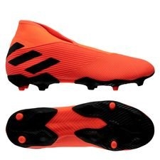 adidas Nemeziz 19.3 FG/AG Laceless - Orange/Sort/Rød