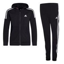 adidas Trainingspak Cotton - Zwart/Wit Kinderen