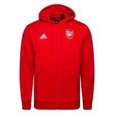 Arsenal Luvtröja 3-Stripes FZ - Röd/Vit
