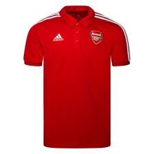 Arsenal Polo 3-Stripes - Rot/Weiß