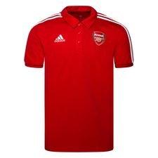 Arsenal Piké 3-Stripes - Röd/Vit