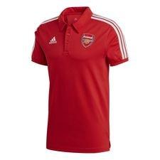 Arsenal Polo 3-Stripes - Rot/Weiß