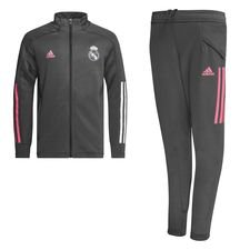 Real Madrid Träningsoverall - Grå/Rosa Barn