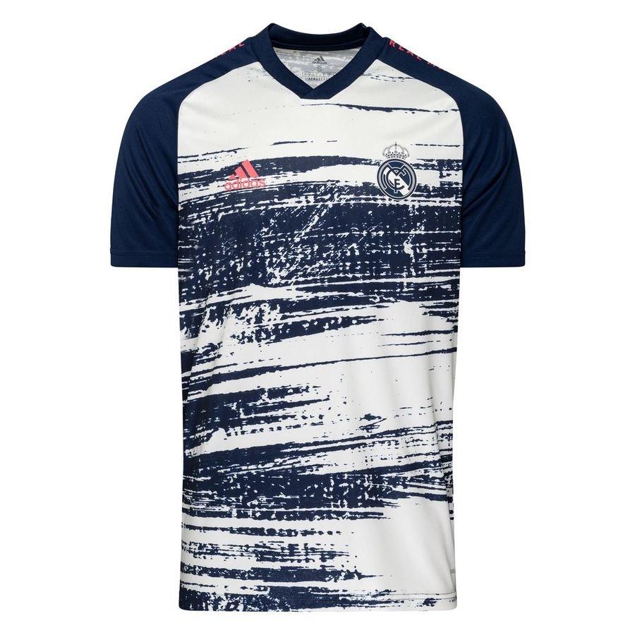 adidas Real Madrid Trænings T-Shirt Presentation - Hvid/Blå Børn