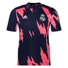 Real Madrid Tränings T-Shirt Presentation - Navy/Rosa Barn