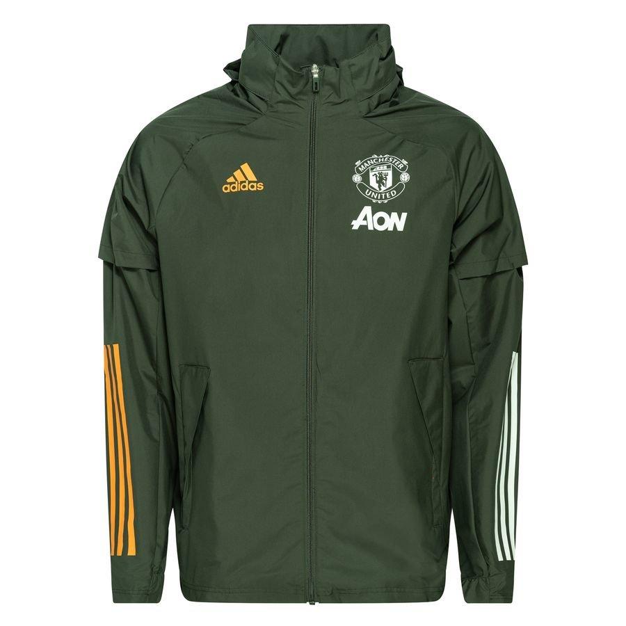 adidas Manchester United All Weather Jacke Grün   adidas