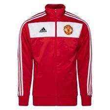 Manchester United Track Top 3-Stripes - Röd/Vit