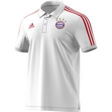 Bayern München Polo 3-Stripes - Weiß/Rot