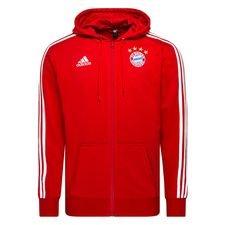 Bayern München Luvtröja 3-Stripes FZ - Röd/Vit