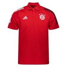 Bayern München Piké 3-Stripes - Röd/Svart