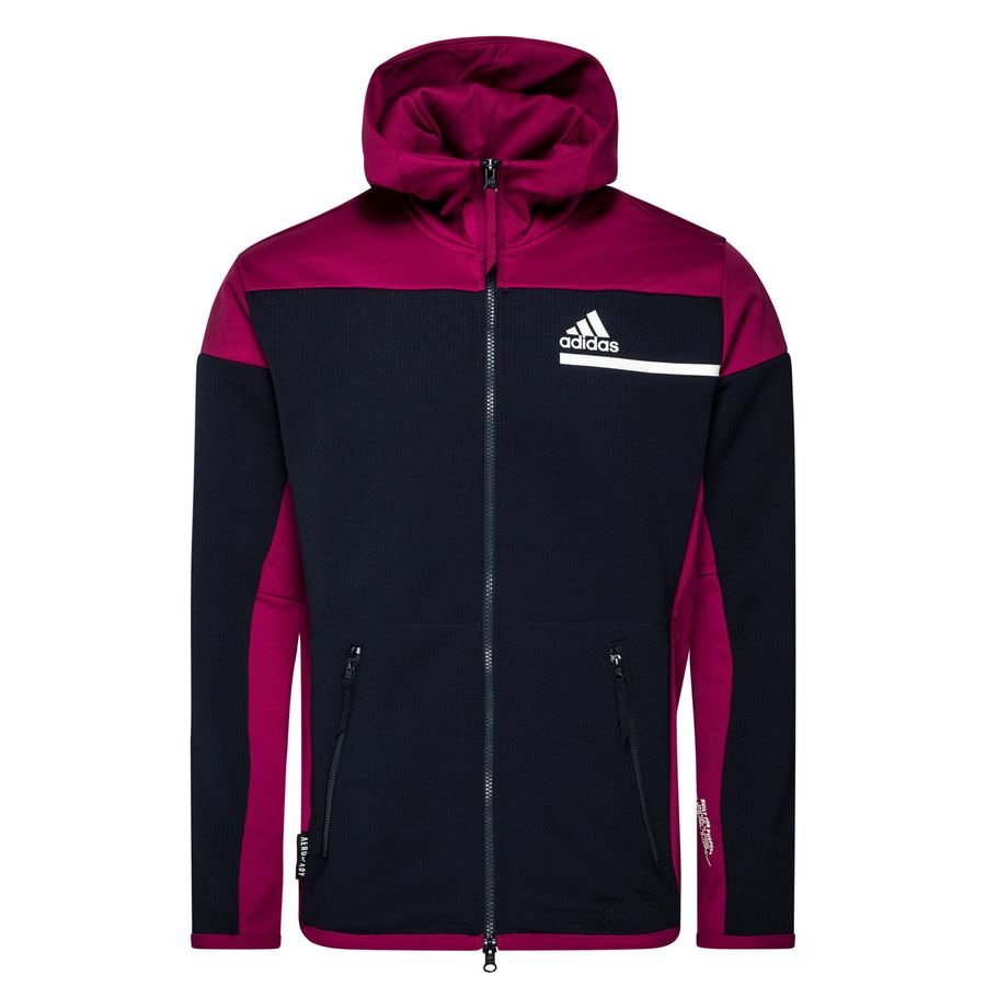 adidas Hættetrøje Z.N.E. Aeroready Full Zip - Navy/Bordeaux thumbnail