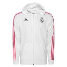 Real Madrid Luvtröja 3-Stripes FZ - Vit/Navy