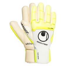 Uhlsport Torwarthandschuhe Pure Alliance Absolutgrip Finger Surround - Weiß/Gelb/Schwarz