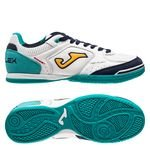 Joma Top Flex IN - Blanc/Turquoise