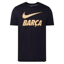 Barcelona T-Shirt Training Ground - Svart/Guld