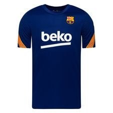 Barcelona Tränings T-Shirt Breathe Strike - Navy/Gul