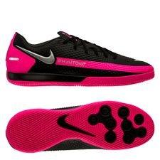 Nike Phantom GT Academy IC - Sort/Sølv/Pink