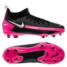 Nike Phantom GT Academy DF MG - Sort/Sølv/Pink Børn