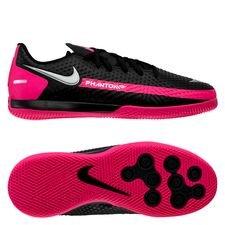 Nike Phantom GT Academy IC - Schwarz/Silber/Pink Kinder